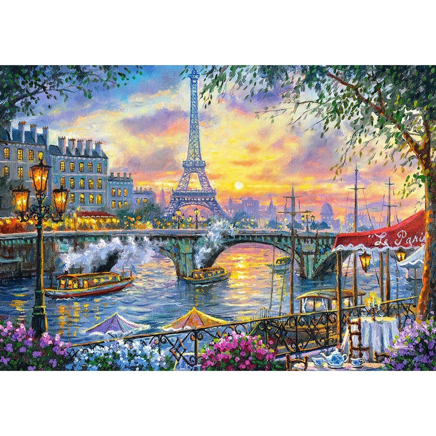 Картина из кристаллов 40х50см Париж на закате (36 цветов)