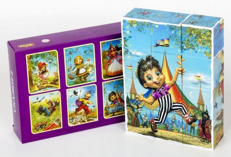 Кубики 12шт Сказки-2 (без обклейки)