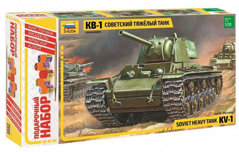 Модель Советский танк КВ-1 (подарочный)