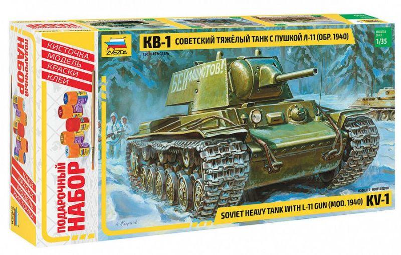 Модель Советский танк КВ-1 1940г. с пушкой Л-11 (подарочный)