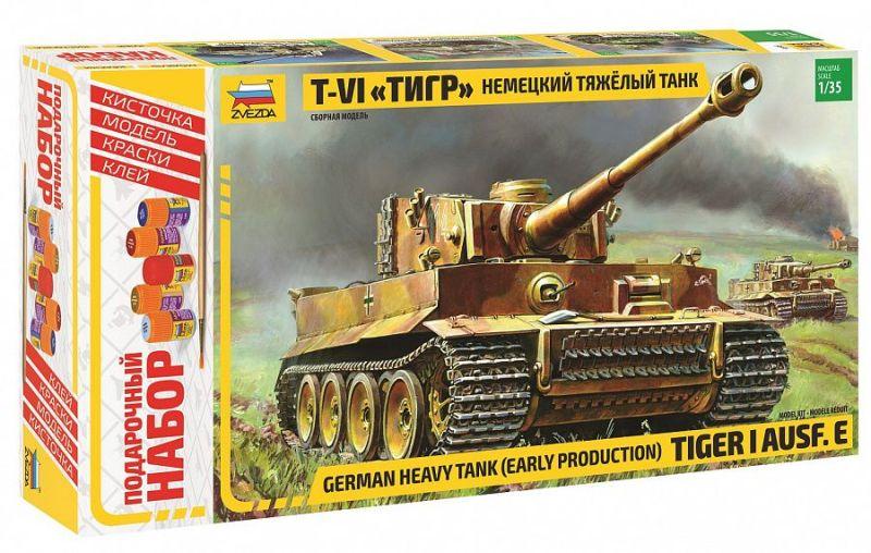 Модель Немецкий тяжелый танк Т-VI Тигр (подарочный)