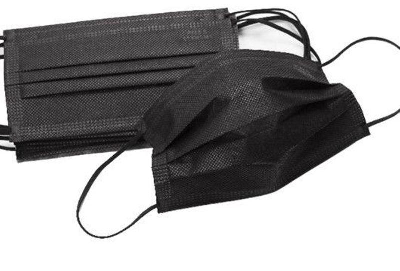 Медицинская маска (плотная, черная)