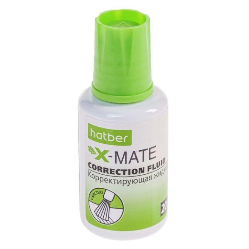 Корректирующая жидкость 20мл на химической основе Hatber X-Mate