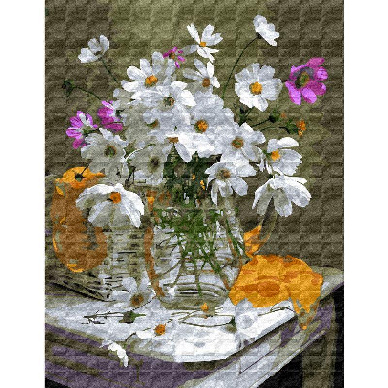 Картина по номерам 30х40 Космея (20 цветов)