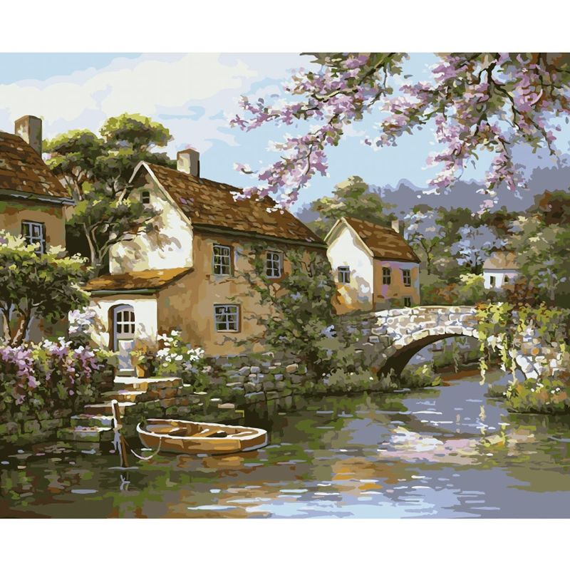 Картина по номерам 40х50см У канала (26 цветов)