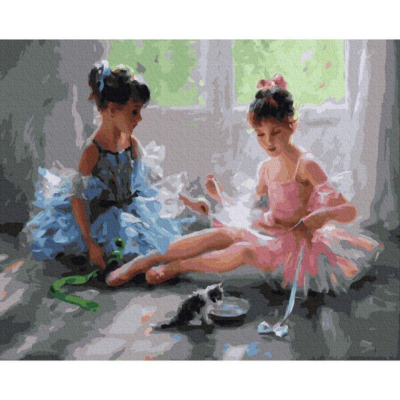 Картина по номерам 40х50см Разумов. Две балерины (32 цвета)