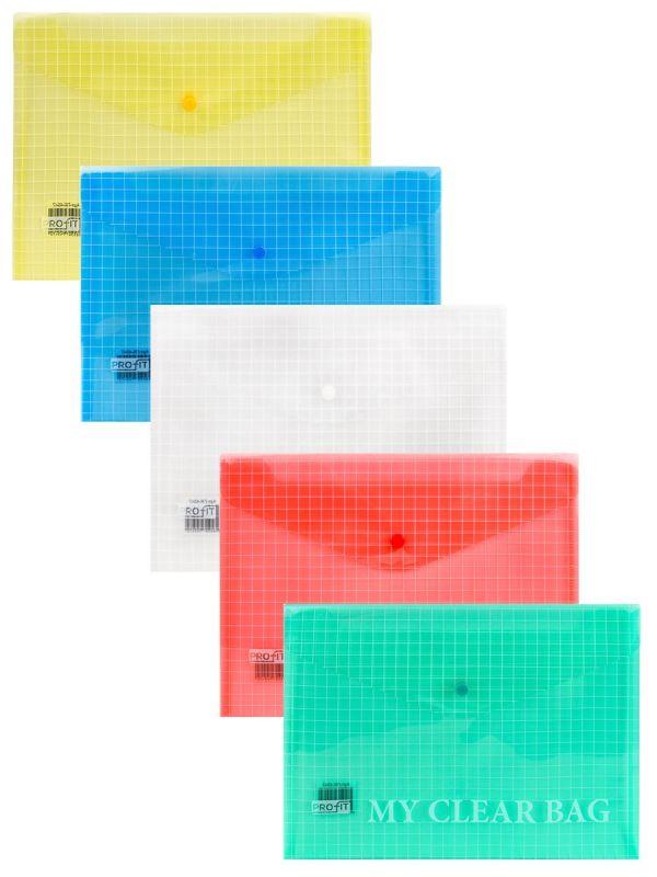 Папка-конверт А4 на кнопке 120мкм