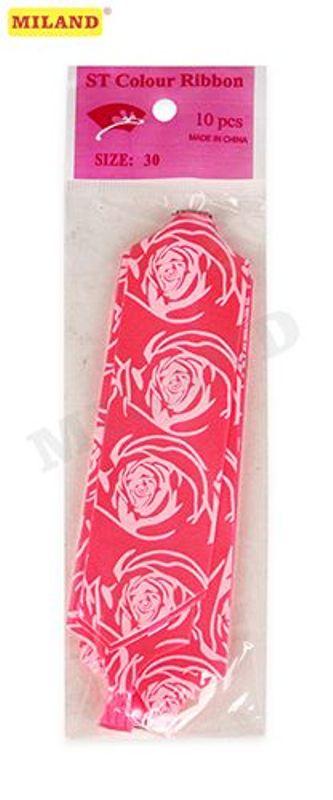 Бант-шар 3см Розы. Розовый