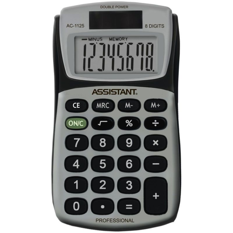 Калькулятор 8р Assistant 101х57,5х16мм, метал панель