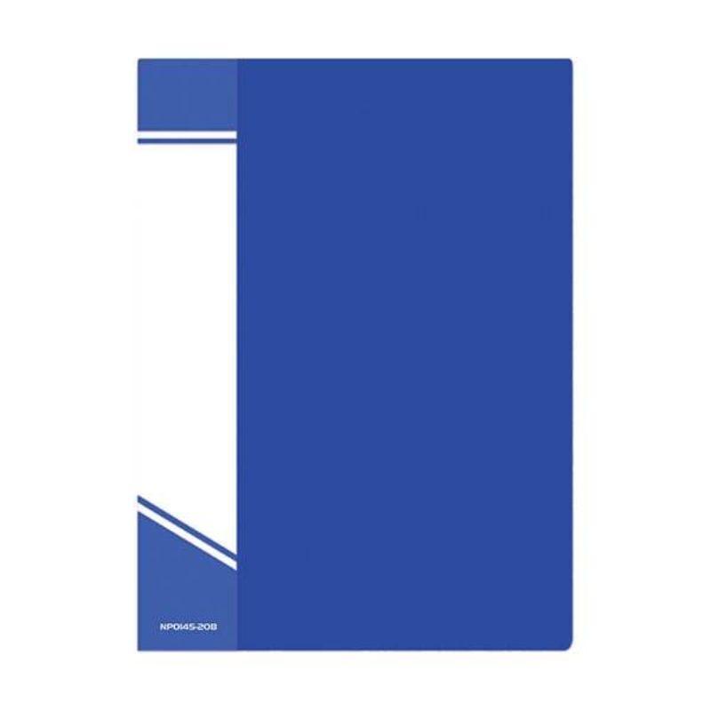 Папка с файлами А4 20 файлов синий пластик 500мкм карман
