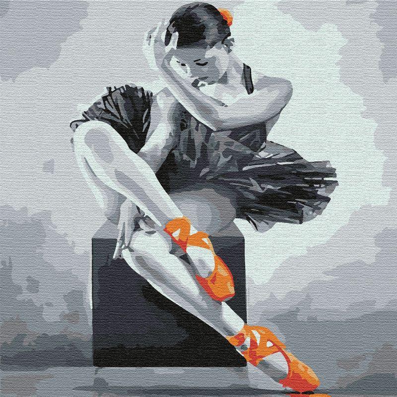 Картина по номерам 30х30см Юная балерина 15цв