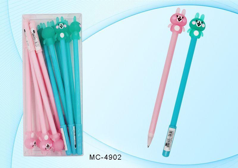 Ручка шариковая Зайчик Синяя цветной корпус, пластиковая упаковка
