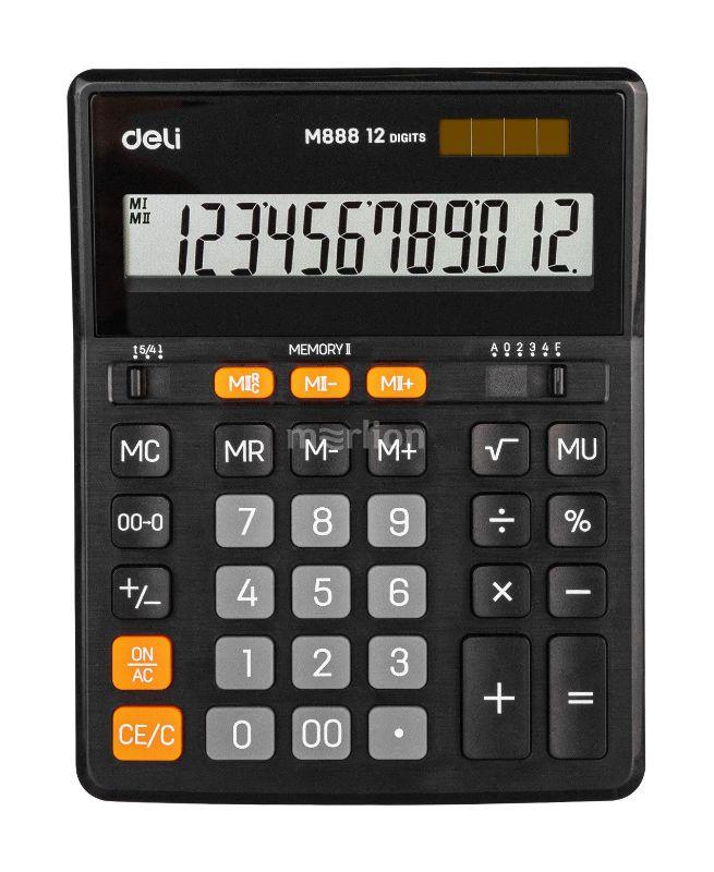 Калькулятор 12 разр черный