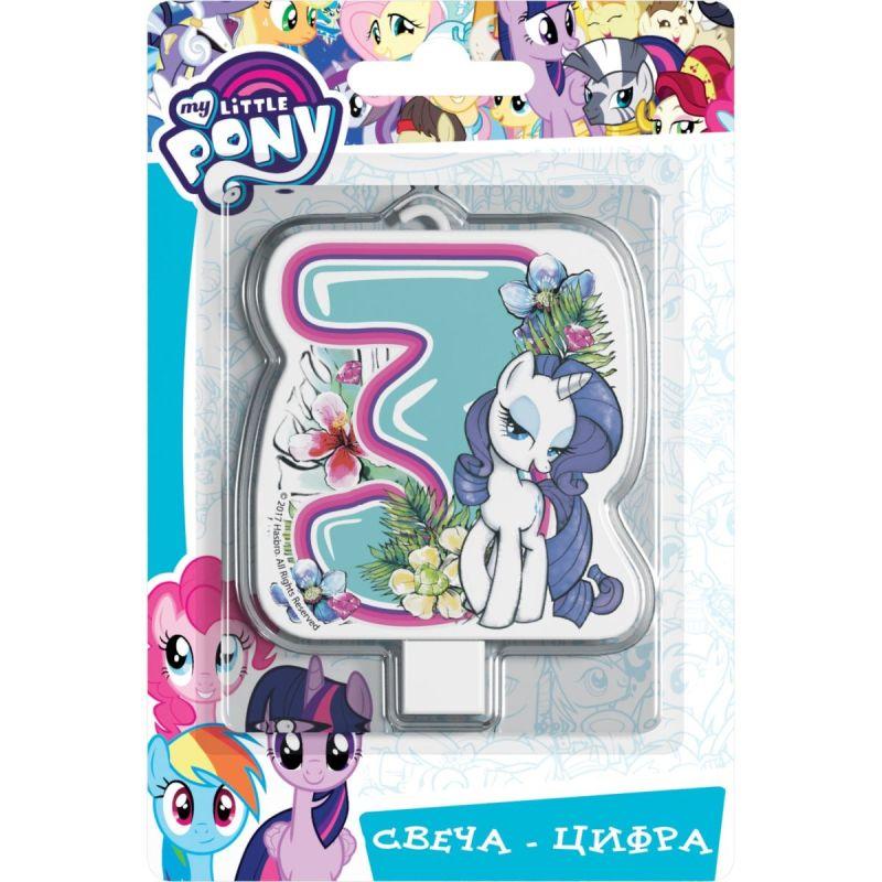 Свеча цифра №3 My Little Pony