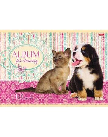 Альбом д/рис 40л «Маленькие Друзья» 5вид