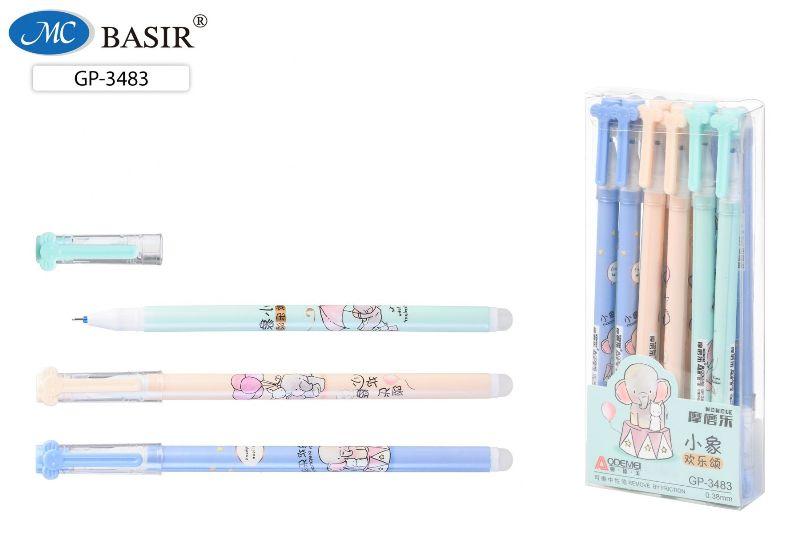 Ручка Пиши-Стирай 0,38мм Слон и белый кролик