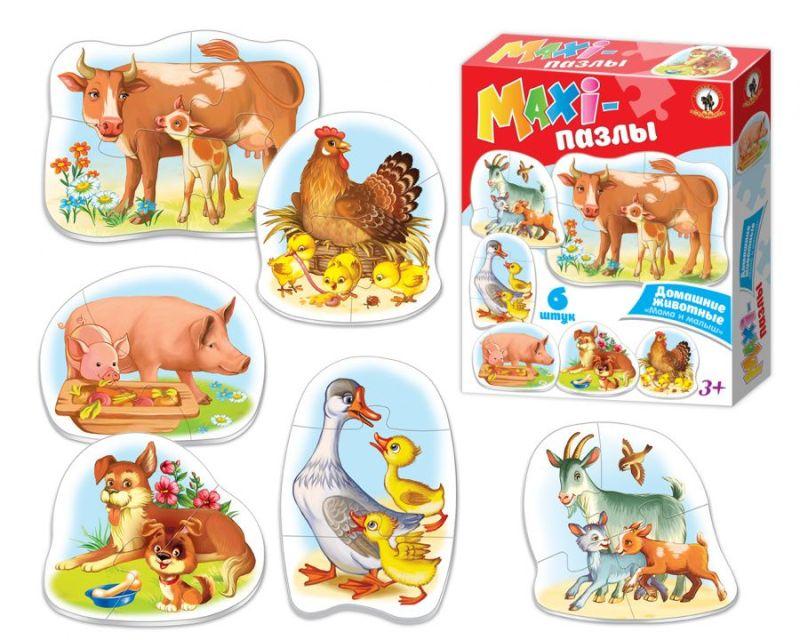 ПАЗЛЫ-МАКСИ «Домашние животные: мама и малыш»