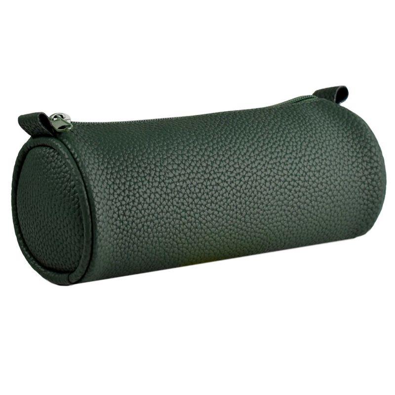 Пенал тубус Зеленый 20х6х5,5 (искусственная кожа)