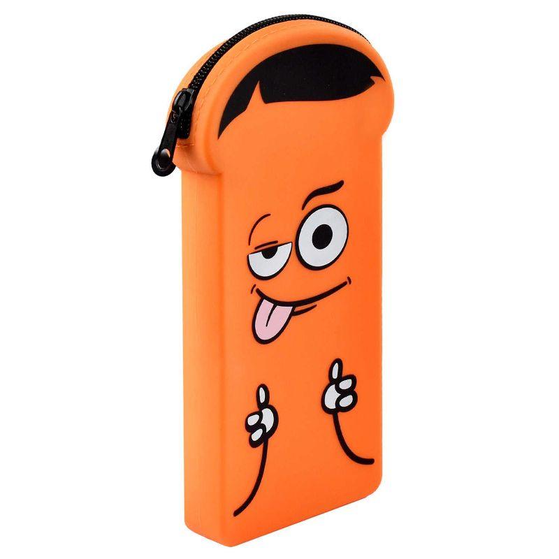 Пенал-косметичка Оранжевый 8,3х20х2,5 (силикон, шелкография в 3 краски)