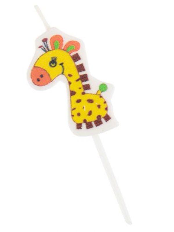 Свечи для торта на пиках. Забавные жирафы. 5 шт