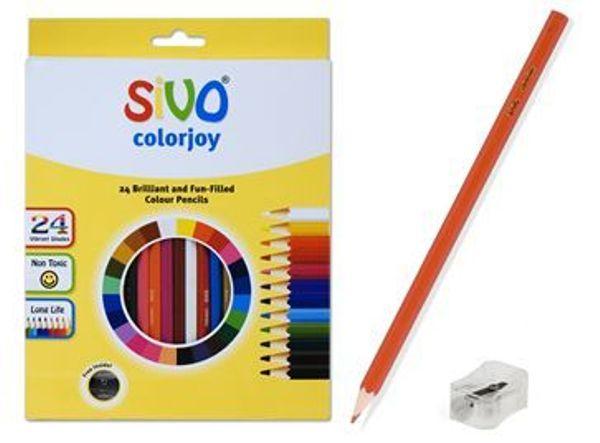 Карандаши 24цв «Colorjoy» SIVO