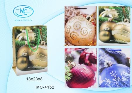 Пакет подарочн 18х23х8см С Новым Годом ассорти