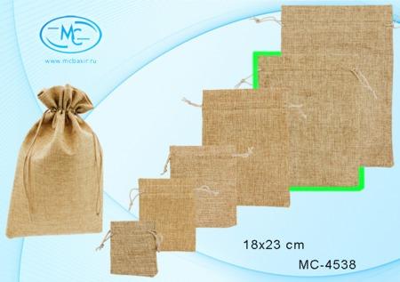 Подарочный мешок 18х23см (ткань мешковина)
