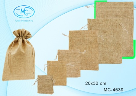 Подарочный мешок 20х30см (ткань мешковина)