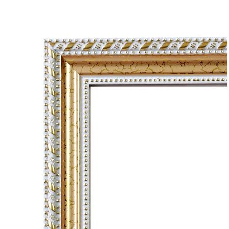 Рамка пластик (21*30) «Золото микс с белым»