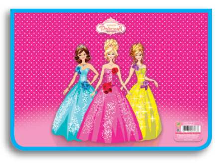 Папка А4 для труда молния сверху Три принцессы