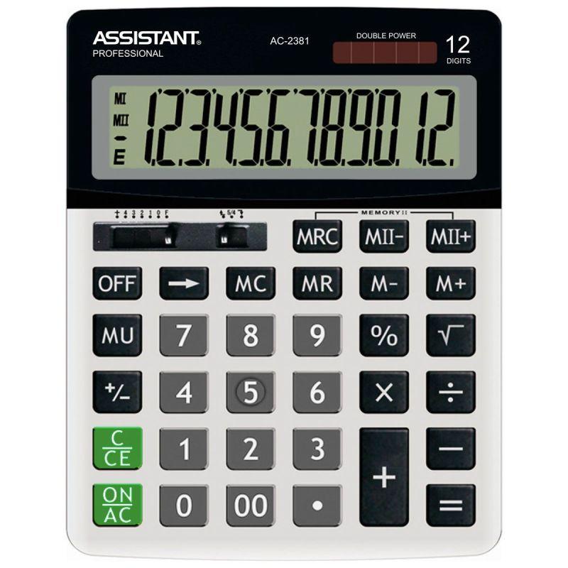 Калькулятор 12р Assistant 205х150мм, метал панель
