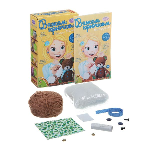 Вязание крючком «Мишка Тимошка»