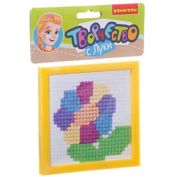 Вышивка «Цветик-семицветик» (с пластиковой канвой)
