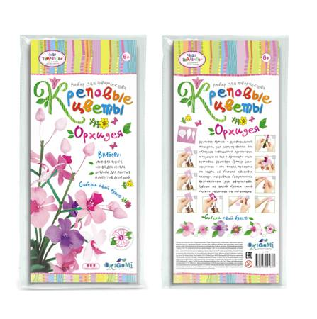 Креповые цветы своими руками Орхидея