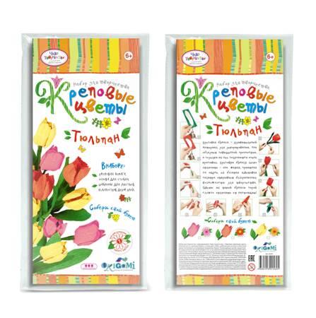Креповые цветы своими руками Тюльпан