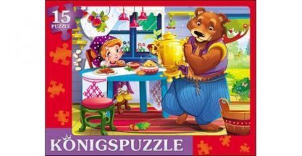 Пазл-рамка 15эл «Маша и Медведь-1»