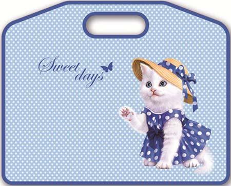 Папка А4 «Кошечка в платье» на молнии с ручками