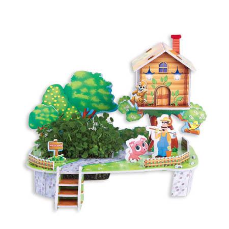 3Д пазлы Мой сад (28дет)