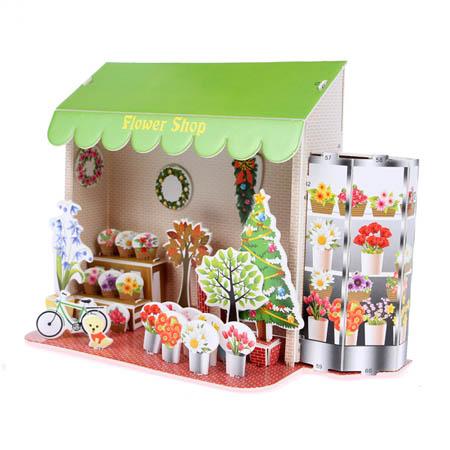 3Д пазлы Цветочный магазин