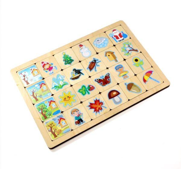 Игра деревянная «Времена года»