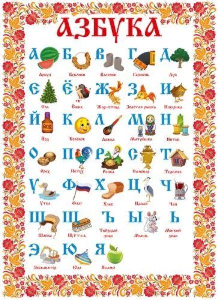 Плакат А2 «Азбука»