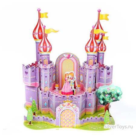 3Д пазлы Фиолетовый замок (35дет) 24х16,5х26,7 см