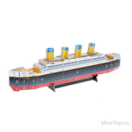3Д пазлы Титаник (36дет) 44х6,1х14,5 см