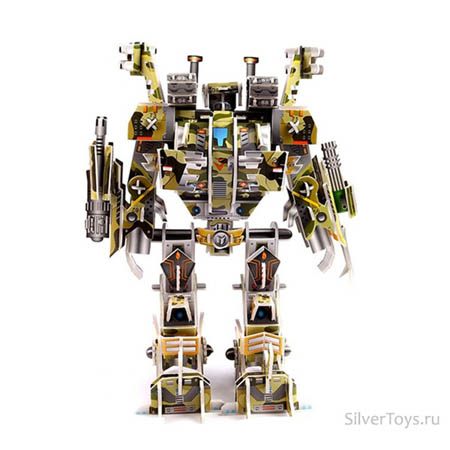 3Д пазлы Робот штурмовик (106дет)20х10х30 см