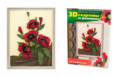 Картина из фоамирана 3Д «Маки»