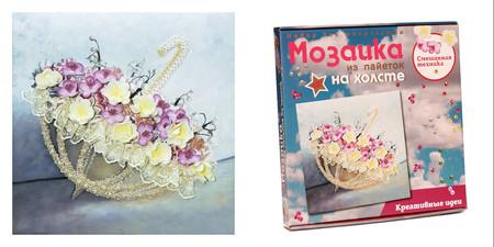 Мозаика из пайеток на холсте «Романтика дождя»