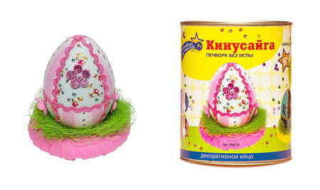 Кинусайга 3Д «Декоративное яйцо» 10х7см