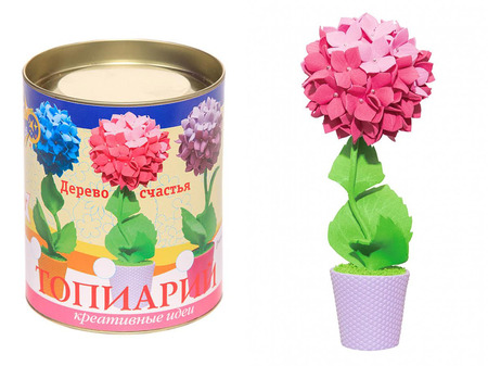 Топиарий «Гортензия» розовая