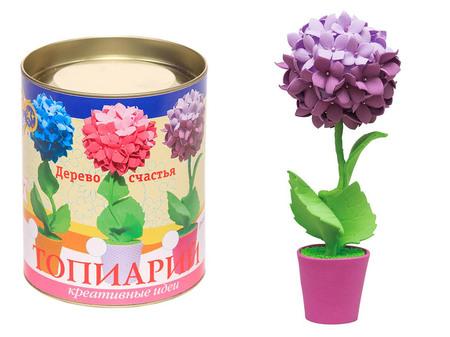 Топиарий «Гортензия» фиолетовая
