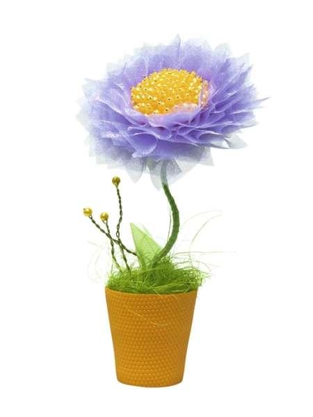 Топиарий из органзы «Лиловое настроение» фиолетовы